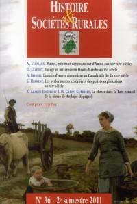 Histoire et Societes Rurales 36
