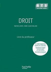 Droit, BTS 2e année, Livre du professeur, éd. 2010