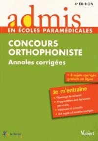 Concours orthophoniste annales corrigées
