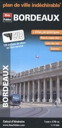 Plan de Bordeaux Indéchirable - Avec localisation des stations VCUB
