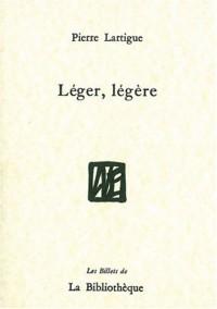 Léger, légère