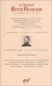 La Nouvelle Revue Française, numéro 567 - Octobre 2003