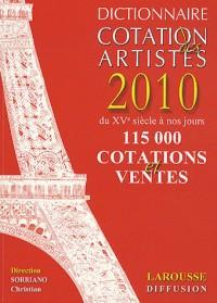 Remmax dictionnaire de cotation des artistes 2010