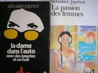 sebastien japrisot - lot 2 livres : la passion des femmes - la dame dans l'auto avec des lunettes et un fusil