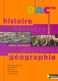 Bac Pro : Histoire géographie : Cahier d'activités