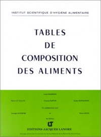 Tables de composition des aliments