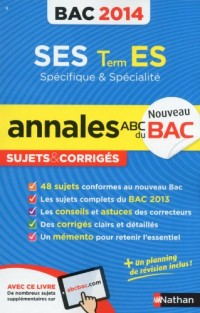 Annales Bac 2014 Ses T.Es Spe + Spe Cor N9
