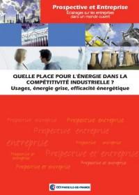 Quelle place pour l'energie dans la compétitivité industrielle ?