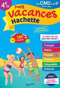 Mes vacances Hachette CM2/6E - Cahier de vacances