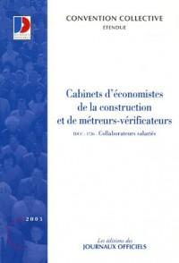 Cabinets d'économistes de la construction et de métreurs-vérificateurs : Collaborateurs salariés