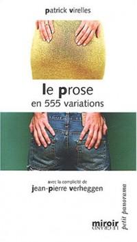 Le prose en 555 variations