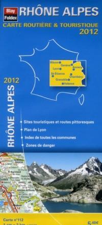 Rhône Alpes, Carte Régionale Routiere Touristique N 112. Plan de Ville de Lyon 1/200000