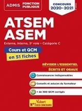 ATSEM - ASEM -Externe, interne, 3e voie, Catégorie C - Cours et QCM en 51 fiches