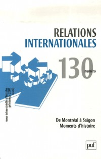 Relations internationales, N° 130 :