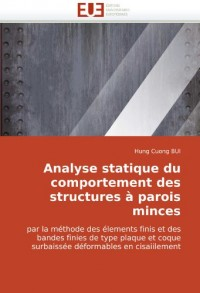 Analyse Statique Du Comportement Des Structures Parois Minces