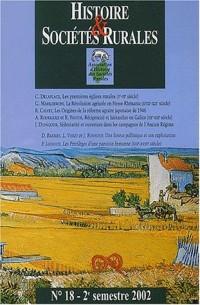 Histoire & Sociétés Rurales, N° 18, 2e semestre 2 :