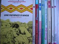 lot 9 livres harlequin : une patience d'ange - un monde d'incertitude - la femme poissons 1995 - la femme lion 1991 - la femme cancer 1989 - l'indomptable épousée - noel sortilege - un sourire de toi