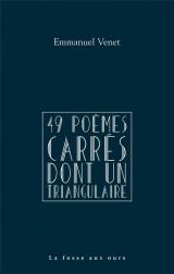 49 poèmes carrés dont un triangulaire