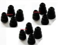 Lot de 12 remplacements d'embouts en silicone avec isolation acoustique pour écouteurs intra-auriculaires compatibles E3C/E3G/i3c/SCL3/E4C/E4G/i4c/SCL4/Etymiotic Research HF/MC 2/3/5/ety 8/Sennheiser