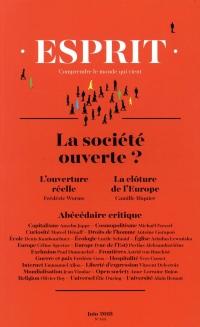 Revue Esprit Juin  2018 la Societe Ouverte