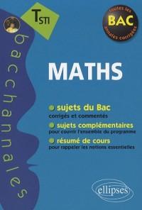 Sujets corrigés mathématiques terminale STI