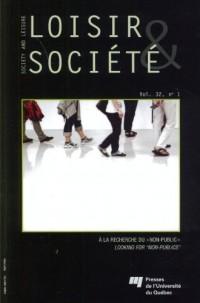 Revue Loisir et Societe Volume 32 Numero 1