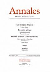Annales Histoire, Sciences Sociales, N° 4, Octobre-décemb : Les Romains et le rire ; Economie antique ; Histoire du crédit (XVIIIe-XXe siècle)