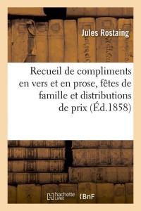 Recueil de compliments en vers  ed 1858