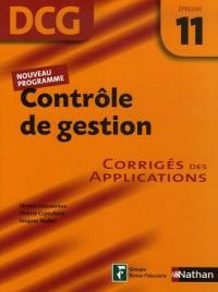 Contrôle de gestion Epreuve 11 - DCG - Corrigés des applications