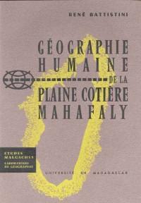 Géographie humaine de la plaine côtière Mahafaly