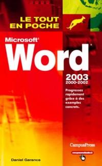 Word 2000, 2002 et 2003
