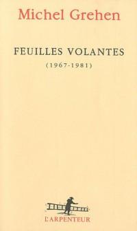 Feuilles volantes (1969-1981)