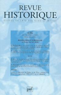 Revue Historique N 636 2005/4 Renseigner et Surveiller en France