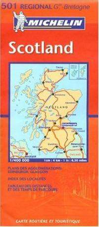 Carte routière : Scotland, N° 11501 (en anglais)