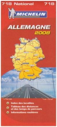 Carte Routiere 718 Allemagne 2008