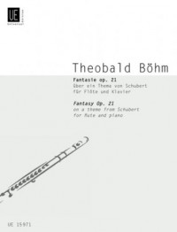 Partitions classique UNIVERSAL EDITION BOEHM TH. - FANTASIE OP.21 - FLÛTE ET PIANO Flûte traversière