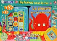 Coffret Histoires sous la mer : 8 livres et le Me Reader : Le trésor de Petit Poisson ; Un banc amusant ; Au clair de lune ; Sur la baie ; Les formes ... poisson ; La pieuvre joue à cache-cahe