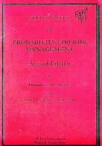 Probability for Risk Management Solutions Manual