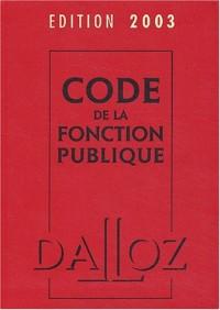 Code de la fonction publique 2003