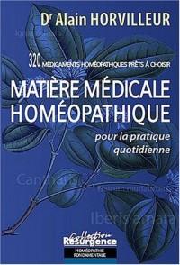 Matière medicale homeopathique