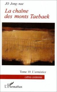 La chaîne des monts Taebaek, Tome 10 : L'armistice