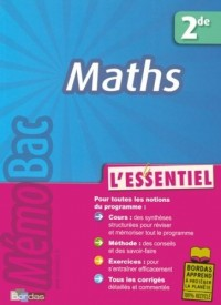 Maths 2e : L'essentiel