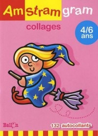 Amstramgram collages 4/6 ans : 132 Autocollants