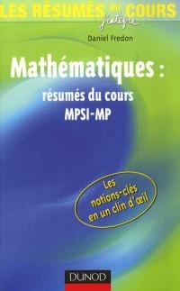 Mathématiques MPSI-MP : Résumés du cours