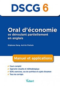 Oral d'économie se déroulant partiellement en anglais DSCG 6 : Manuel et applications, approche visuelle et méthodologique