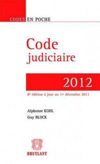 Code judiciaire 2012