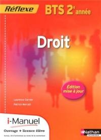 Droit Bts 2 (Pochette Reflexe) Licence Numerique Eleve I-Manuel+Ouvrage Papier