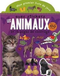 Mon premier livre de jeux avec stickers : les animaux et 12 pages de coloriage : Avec + de 100 stickers