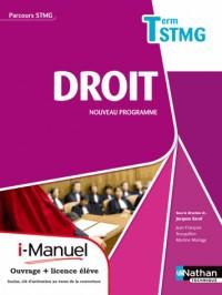 Droit  Term Stmg  (Parcours Stmg)  Licence Numerique Eleve  I-Manuel+Ouvrage Papier