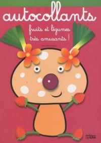 Fruits et Légumes très amusants : Monsieur Champignon - Album d'autocollants - Dès 3 ans